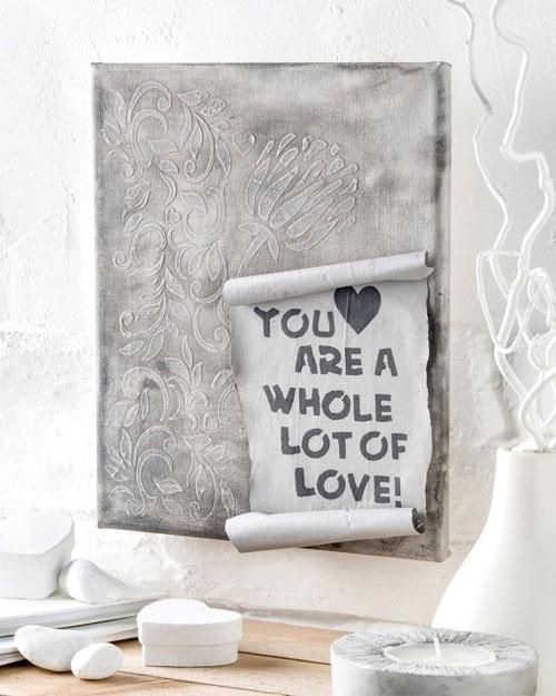"Bild ""Love"" in Betonoptik"""